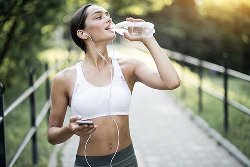 вода во время тренировки